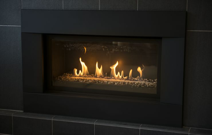 Electric fireplace with fireplace glass | Demers Glass AZ