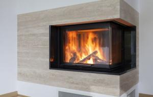 Modern Fireplace - Demers Glass AZ