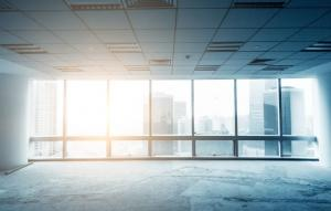Empty office building at sunrise | Demers Glass AZ