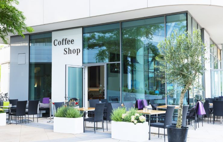 Coffee shop with store front glass | Demers Glass AZ