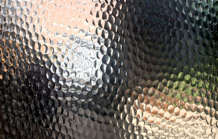 Close up of textured glass | Demers Glass AZ