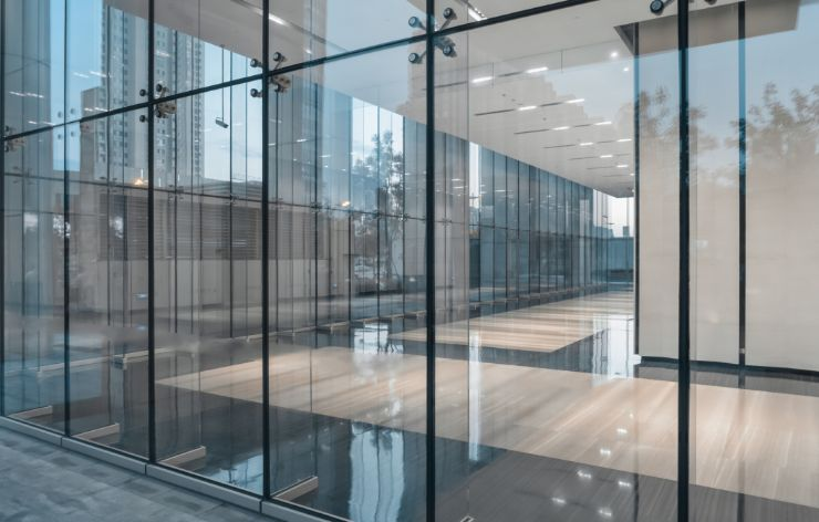 All glass system installation for commercial space | Demers Glass AZ