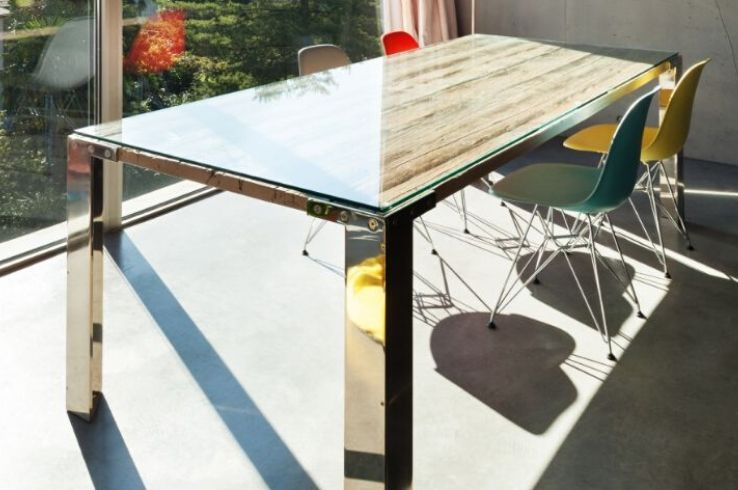 Glass tabletop by Demers Glass in AZ