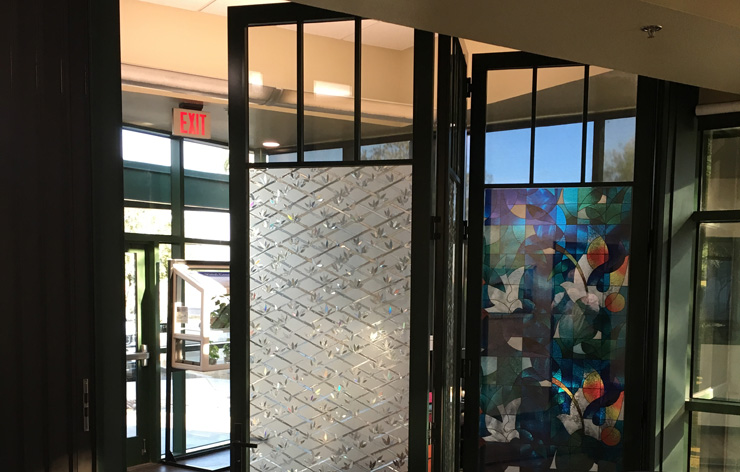Large folding windows on display in Demers Glass showroom in Peoria, AZ