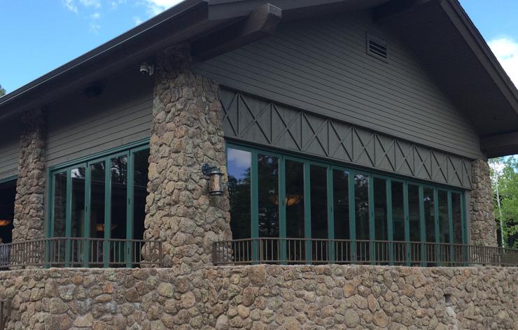 Forest Highlands large custom window installation by Demers Glass AZ
