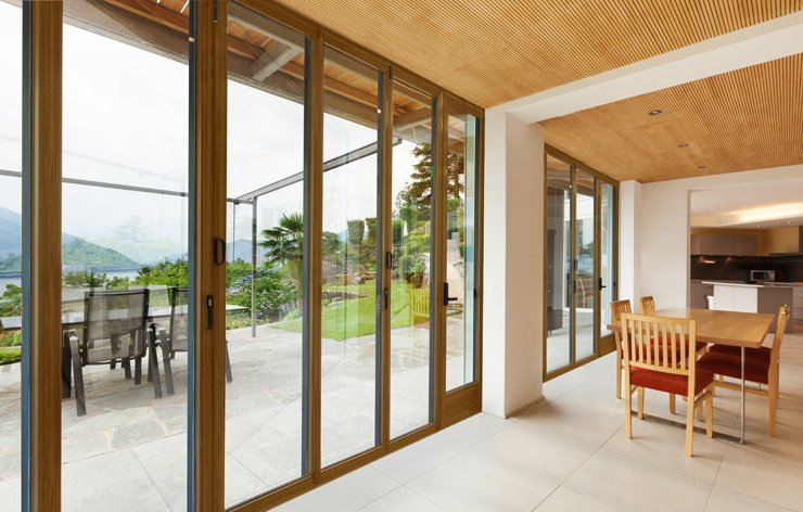 Folding windows in residential home by Panda Windows, a Demers Glass Partner