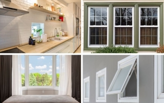 Different types of windows displayed in a collage