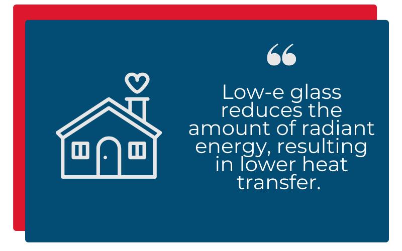 low-e glass insulating heat